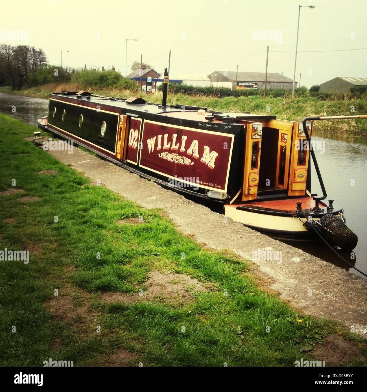 Narrowboat William at Rufford - Stock Image