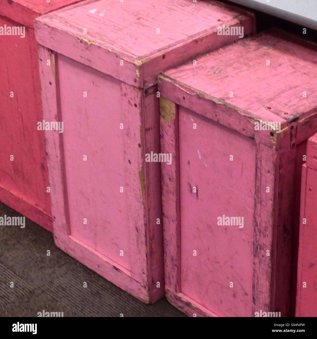 Pink Boxes - Stock Image