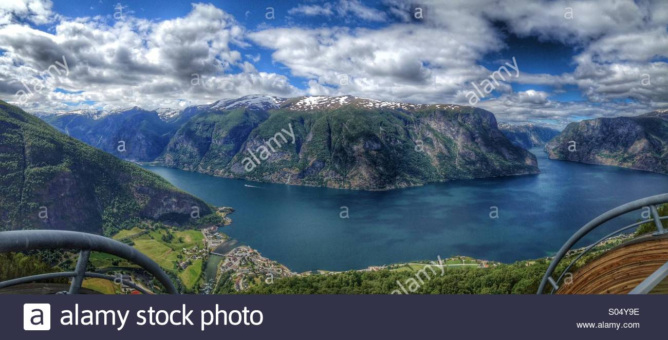 Aurland, Norway, - Stock Image