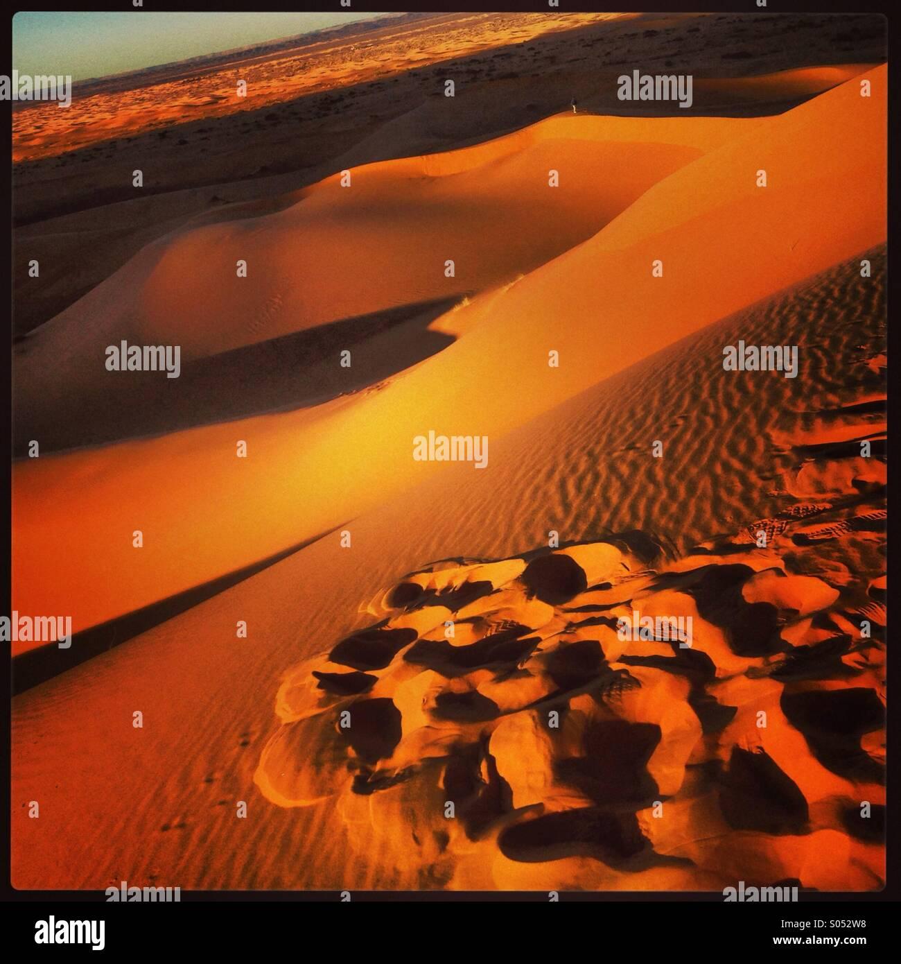 Sahara Desert morning light Morocco - Stock Image