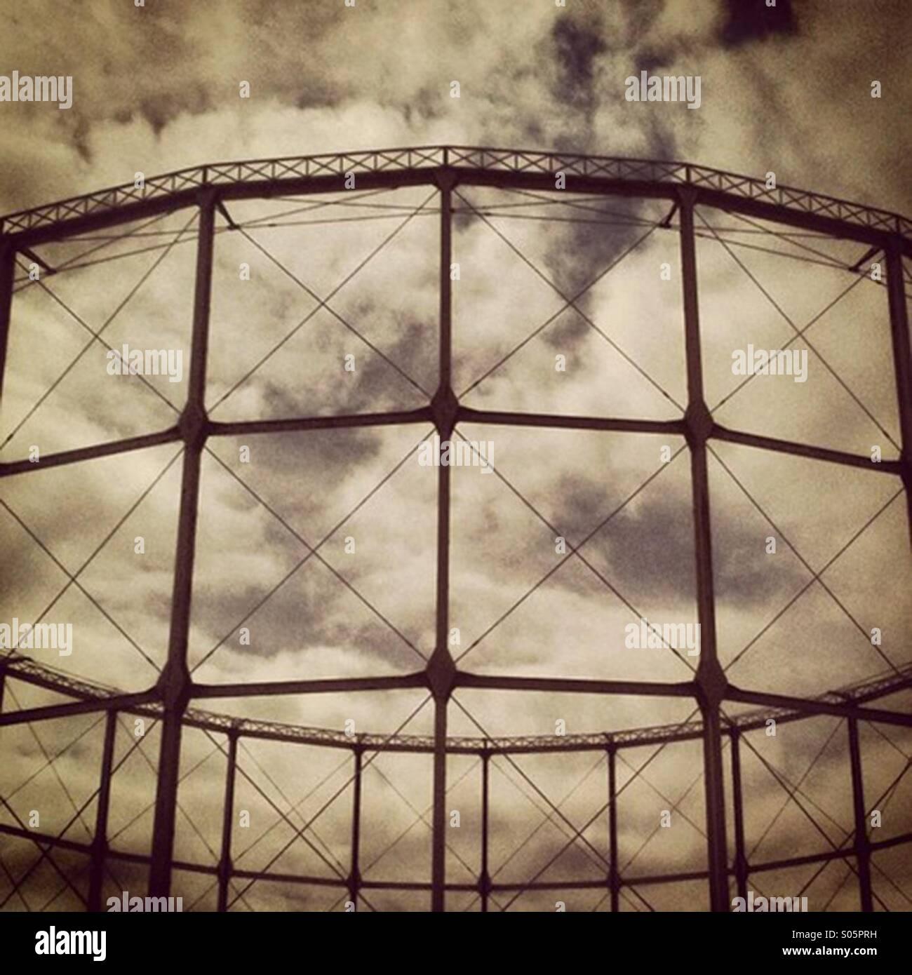 Gasometer in Bath - Stock Image