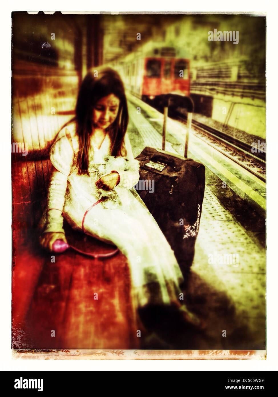 Girl traveling - Stock Image