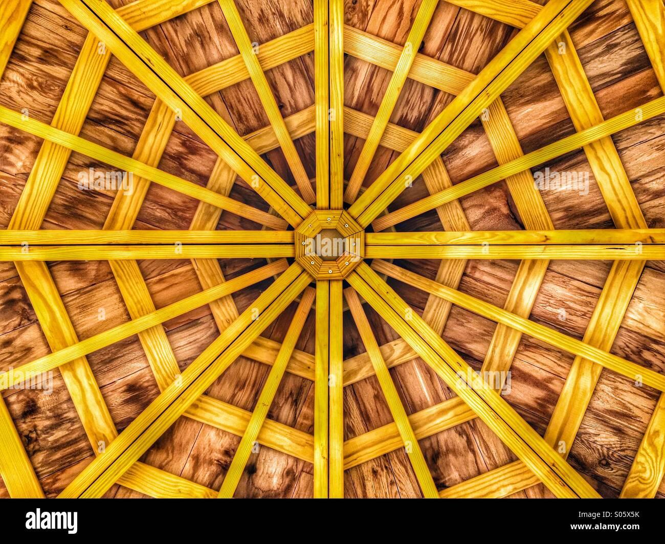 Gazebo roof - Stock Image
