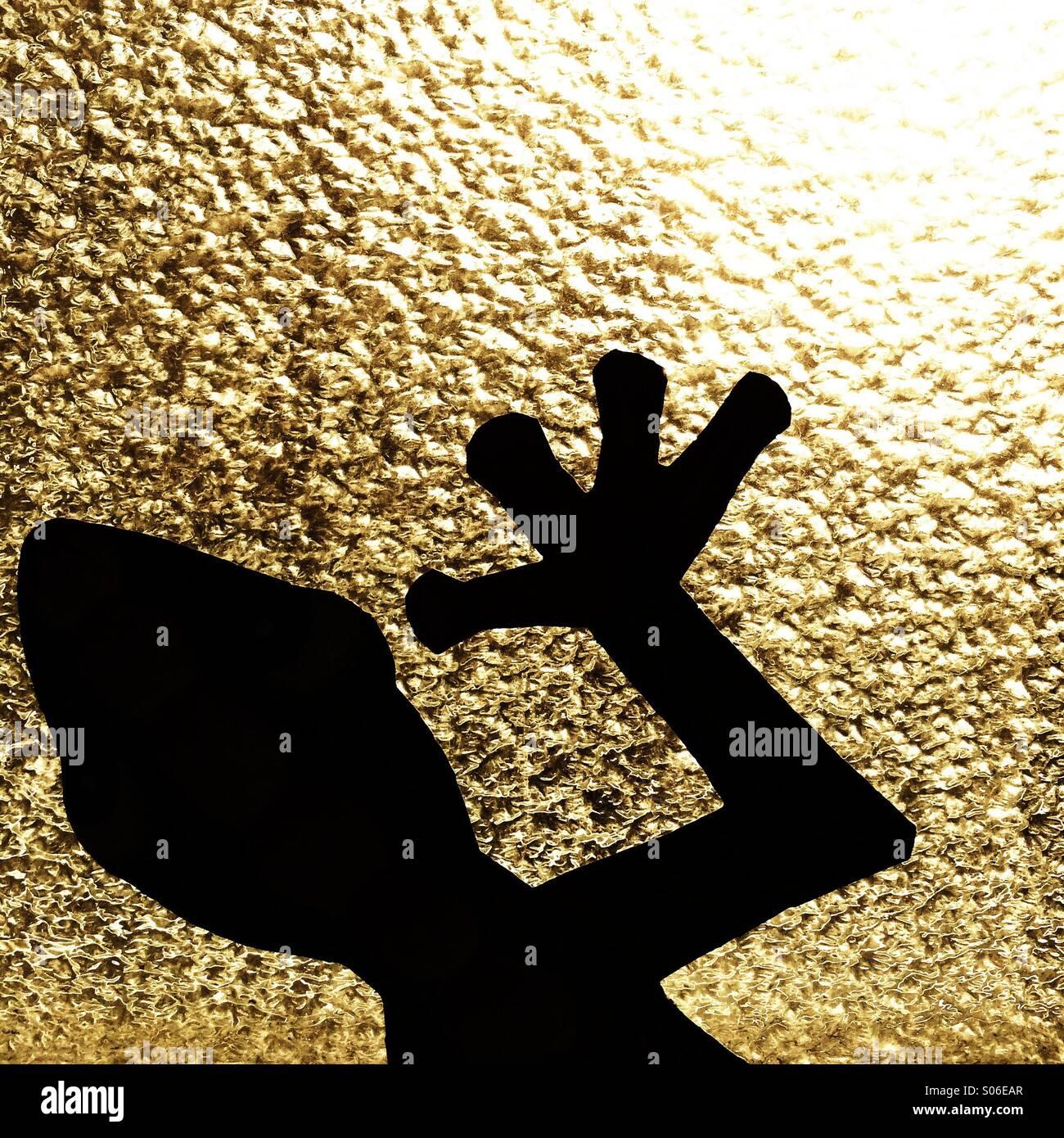 Gecko silhouette - Stock Image