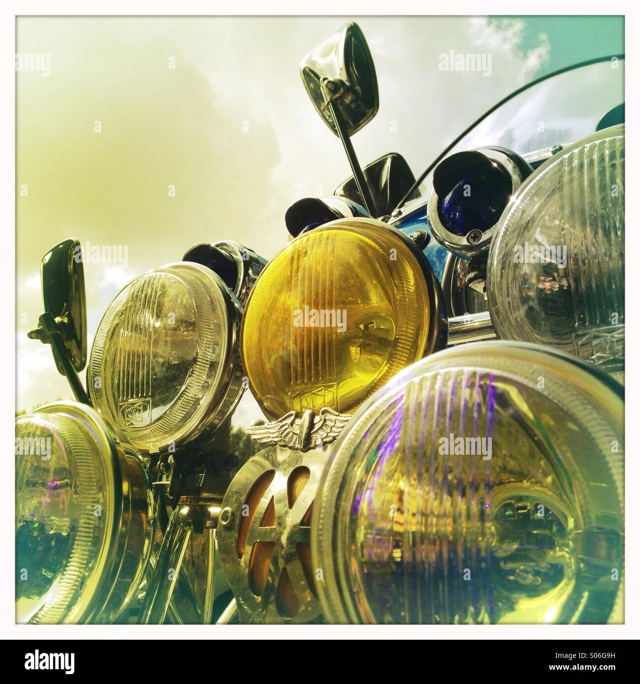 Scooter lamps - Stock Image