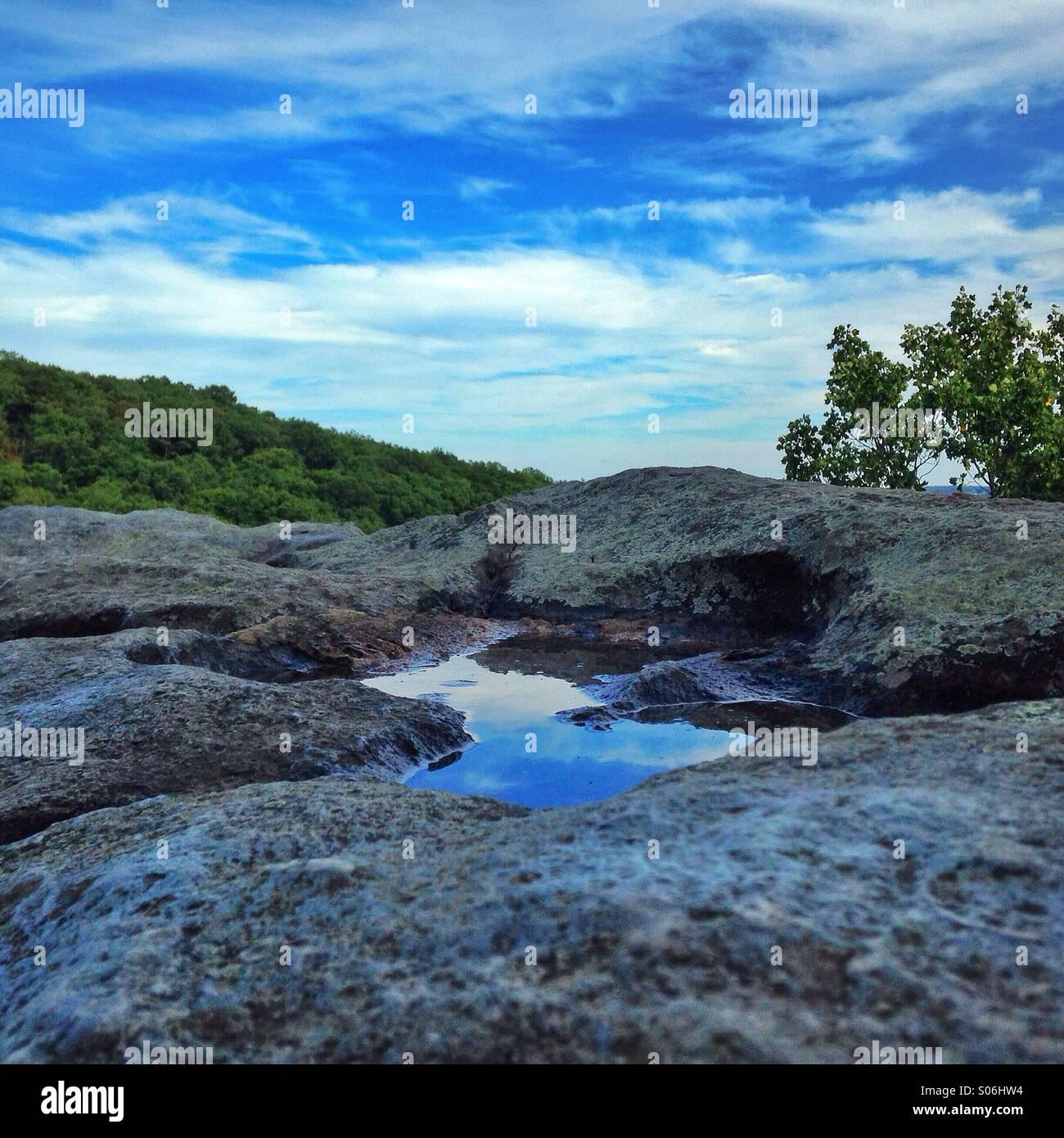 Little sky, big sky at Rock State Park Maryland. - Stock Image