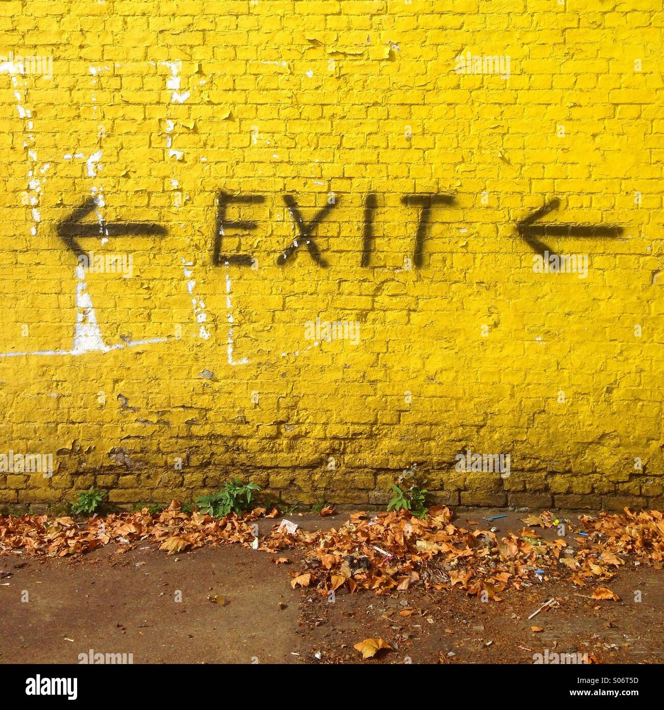Exit sign. - Stock Image