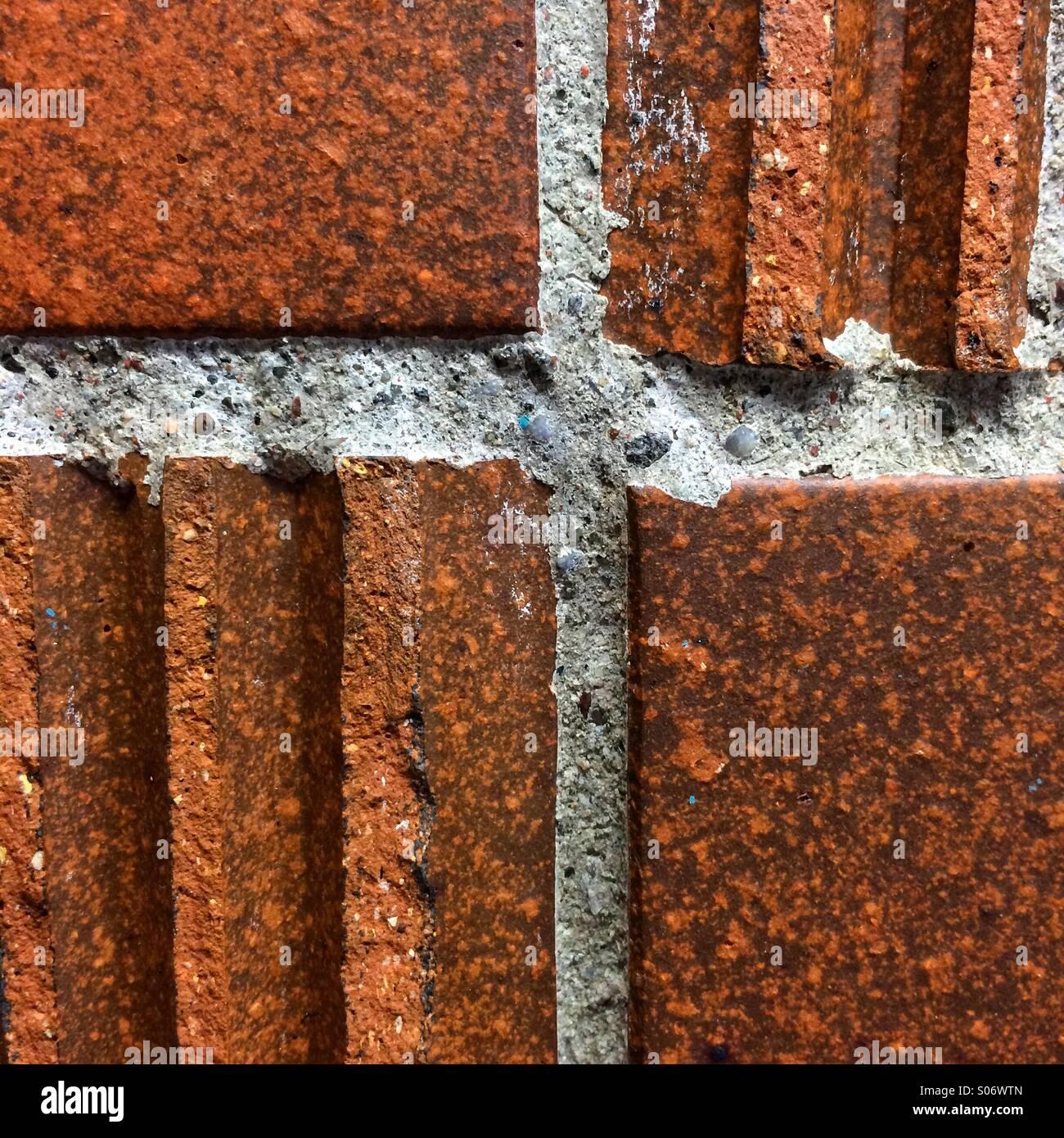 Brick wall detail - Stock Image