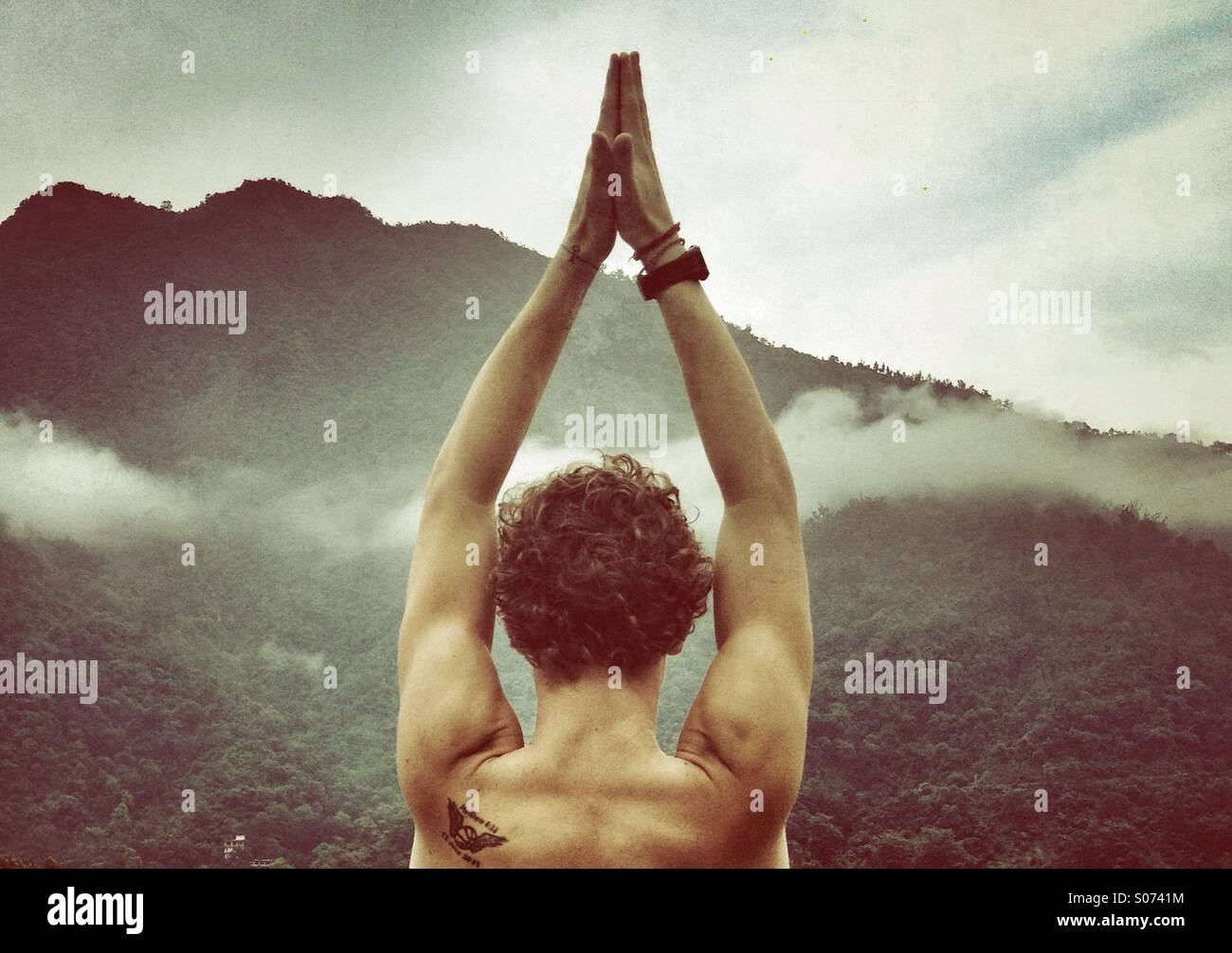 Mountain pose - Stock Image