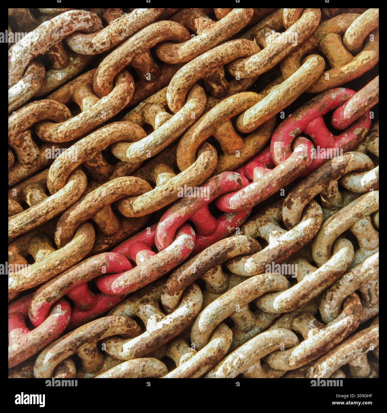 Red chain - Stock Image