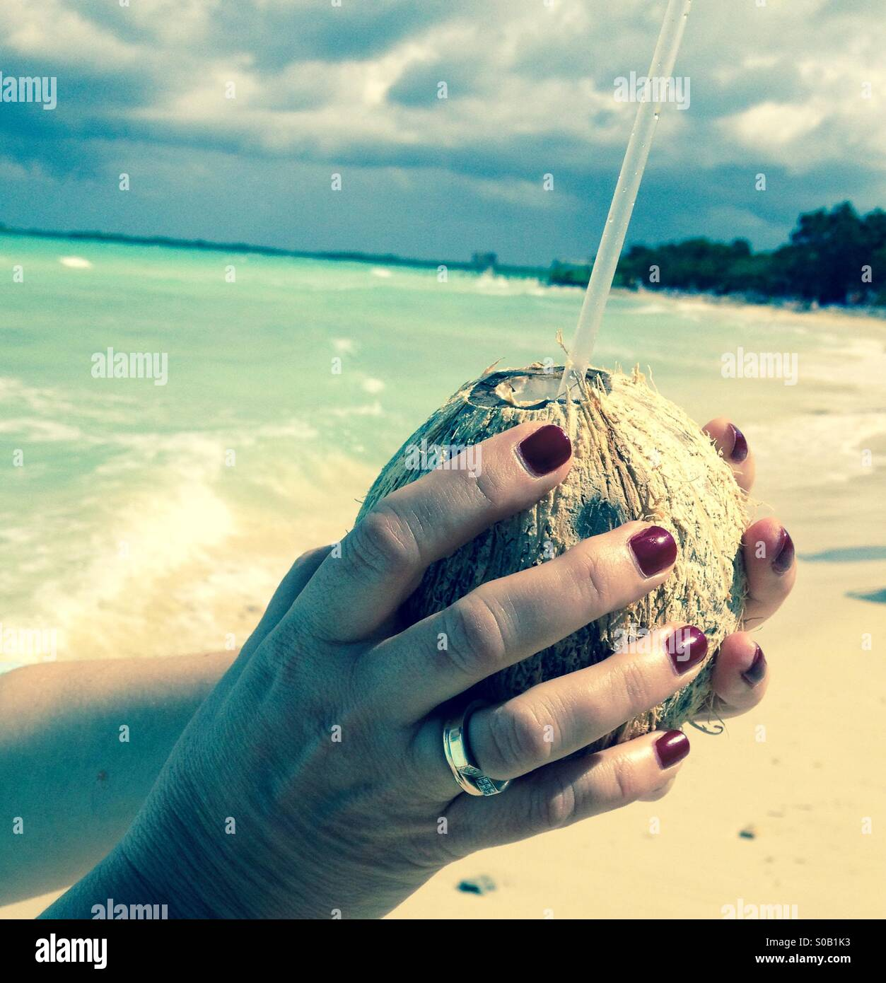 Coconut drink - Stock Image