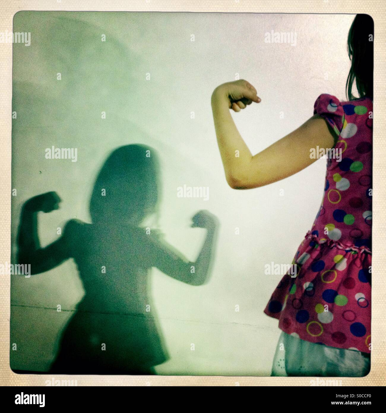 Strong girl - Stock Image
