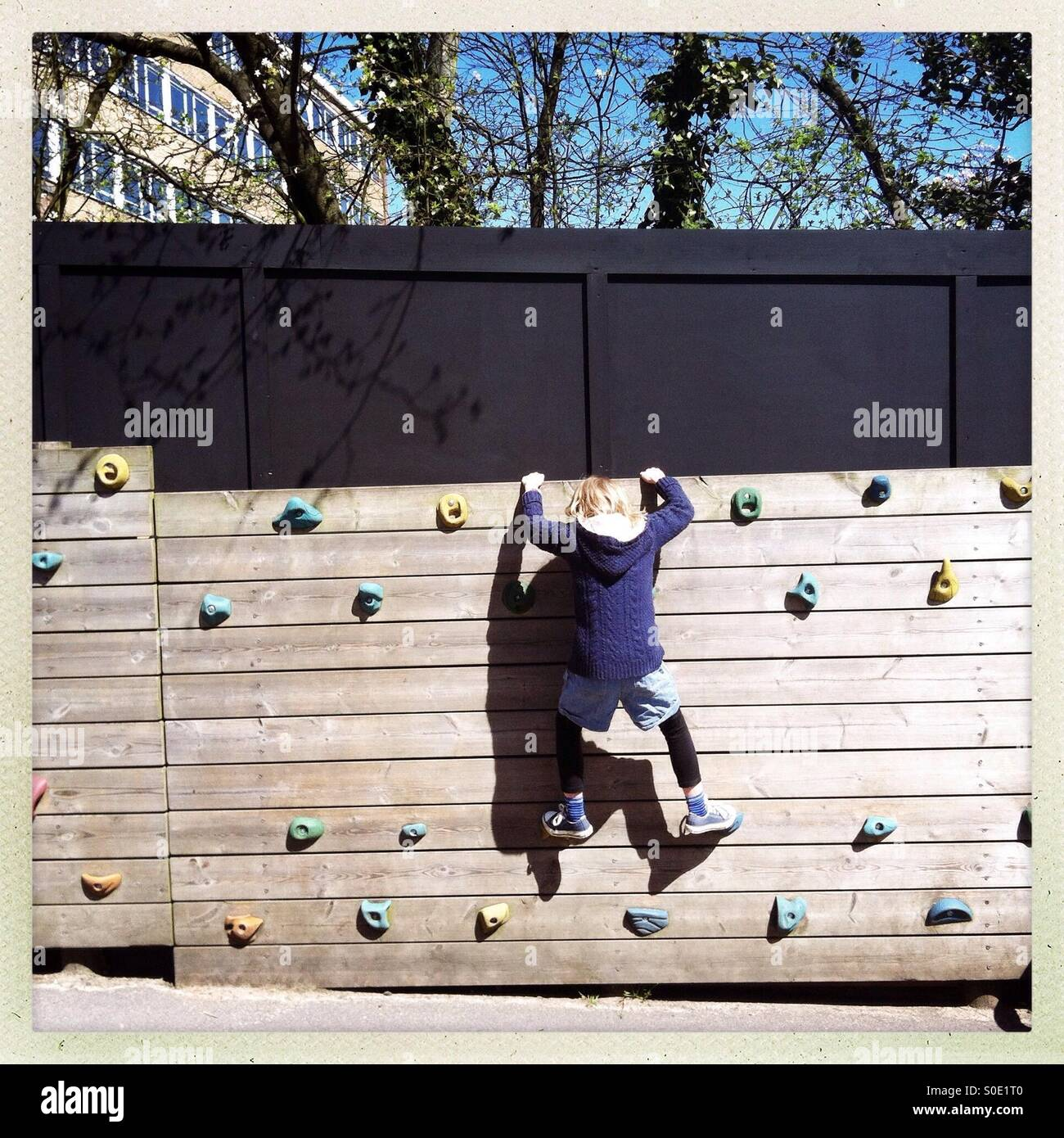 Climbing wall - Stock Image