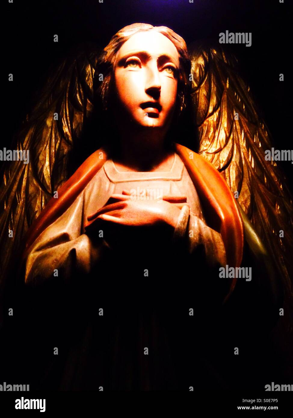 An angel statue. - Stock Image