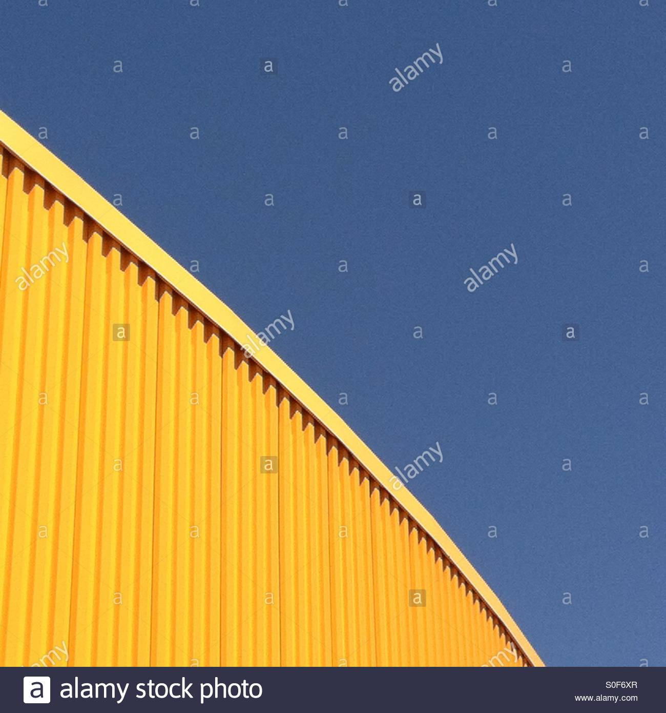 Blue - Yellow - Stock Image