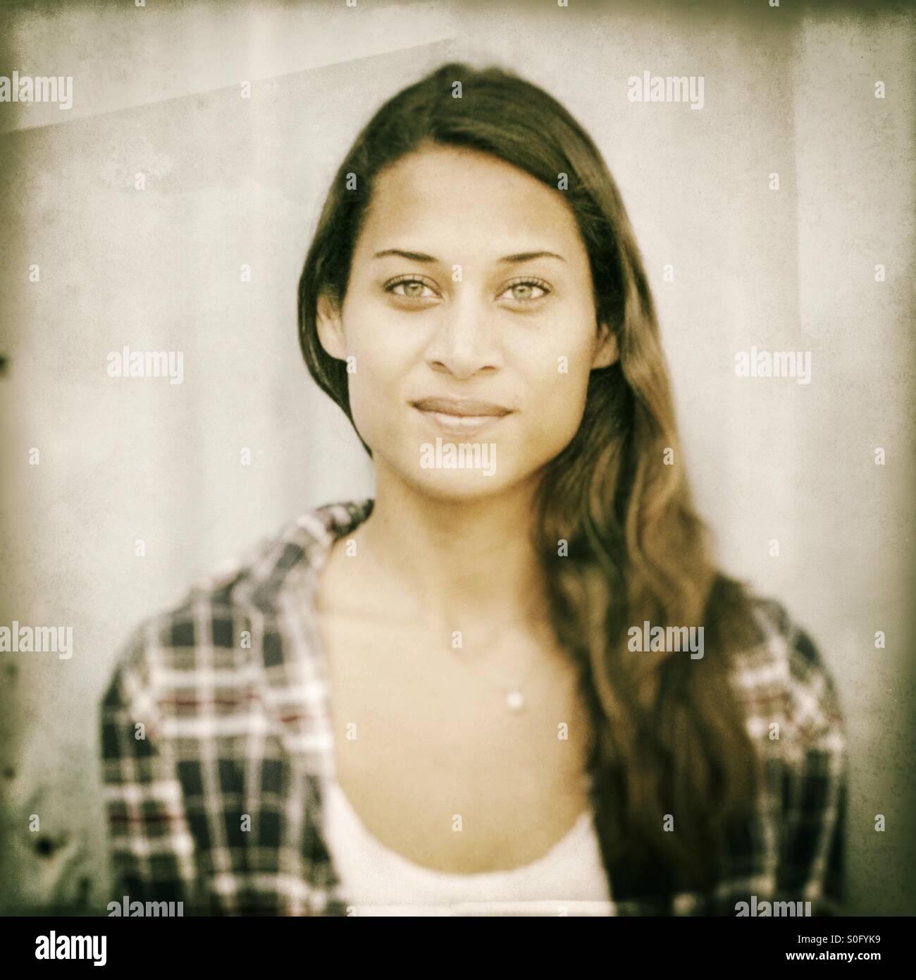 Portrait of a beautiful woman. - Stock Image