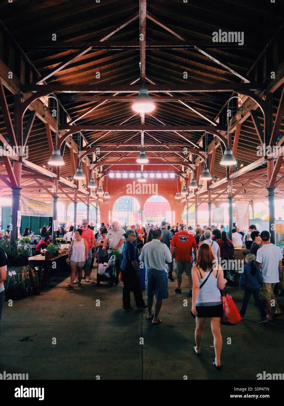 Summer weekend at Eastern Market. Detroit, Michigan. Stock Photo