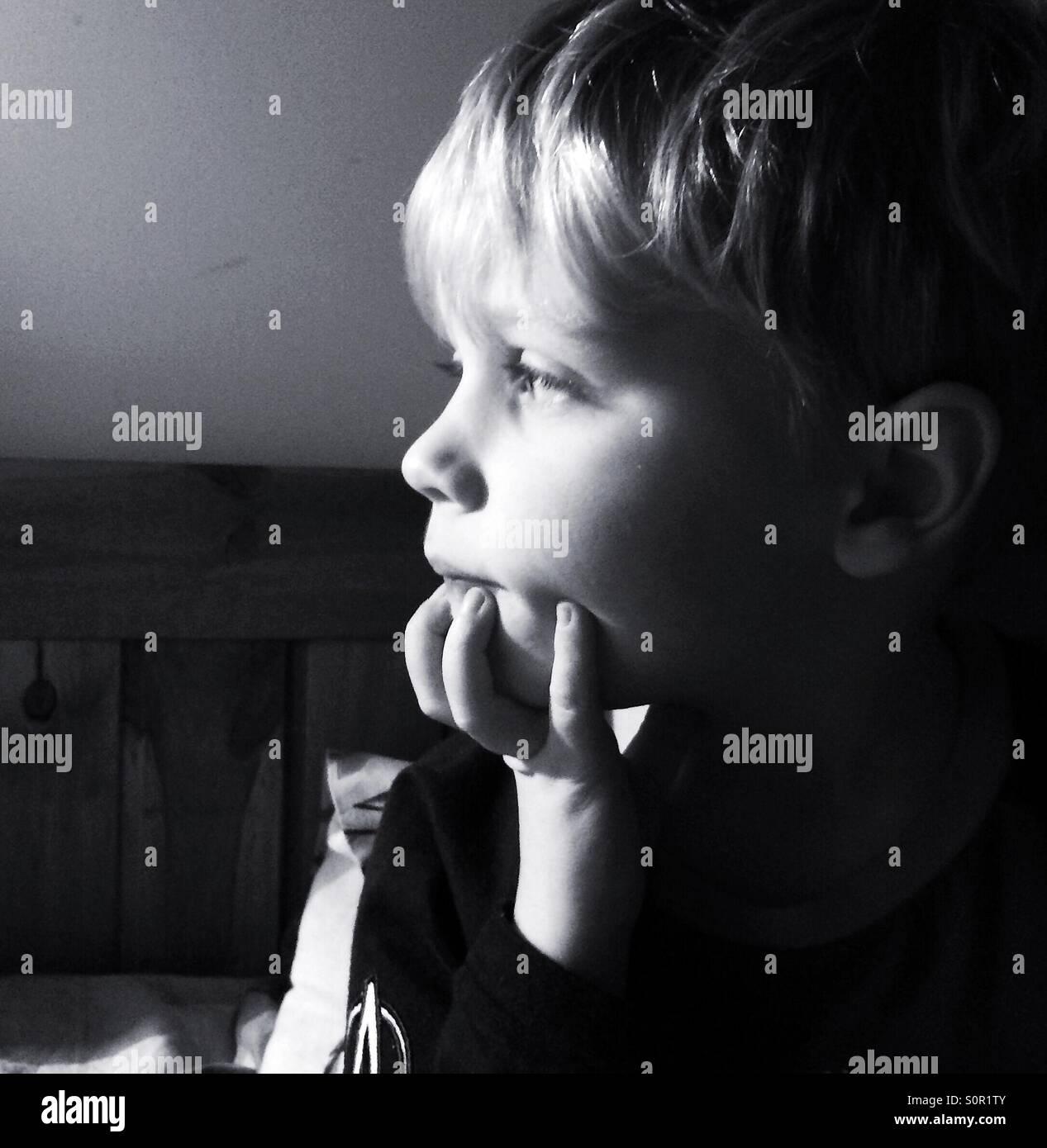 Bored child - Stock Image