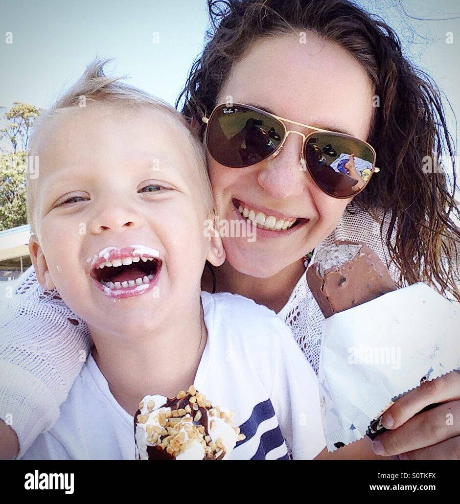 Mother with son - Stock Image