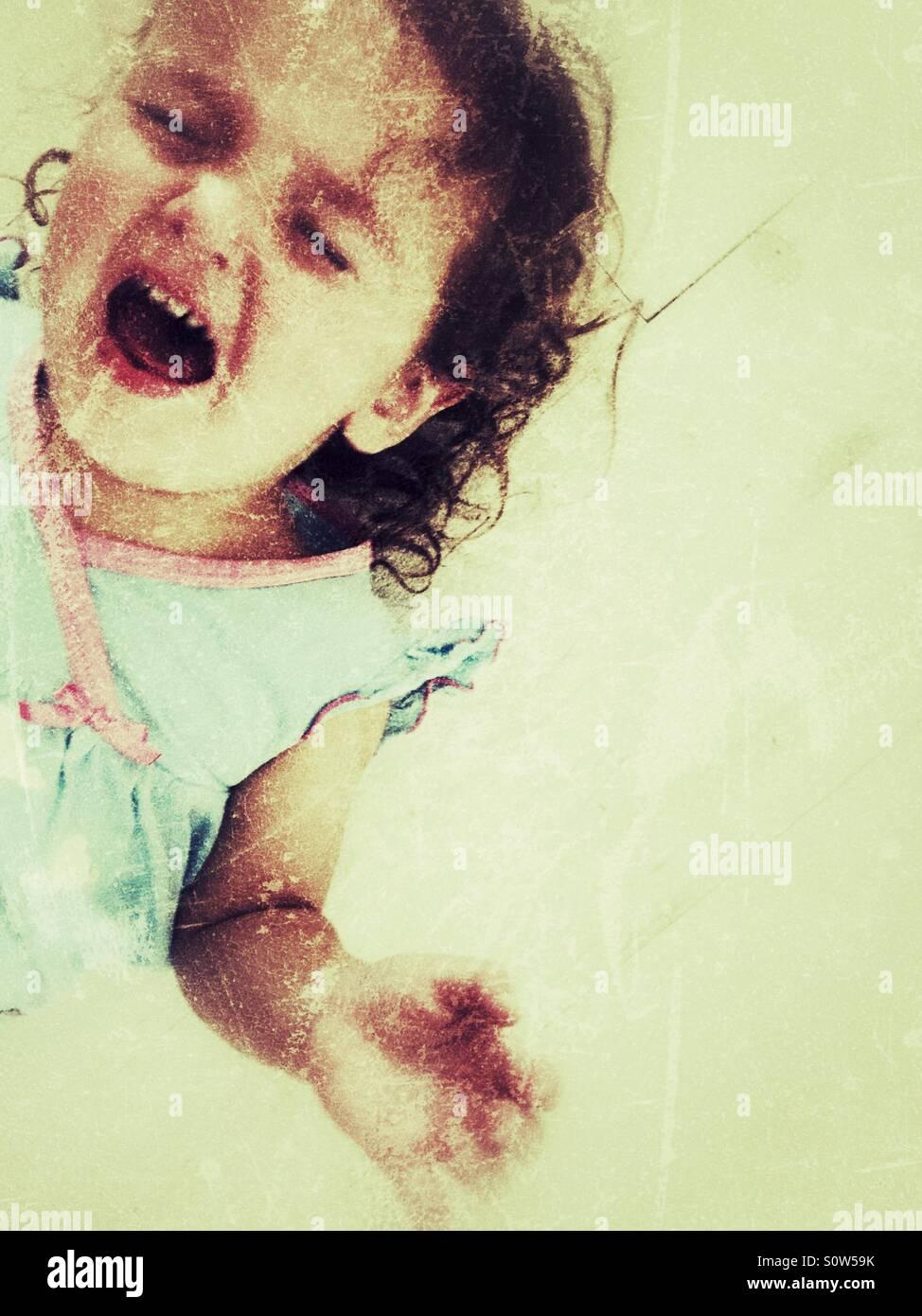 Toddler tantrum - Stock Image