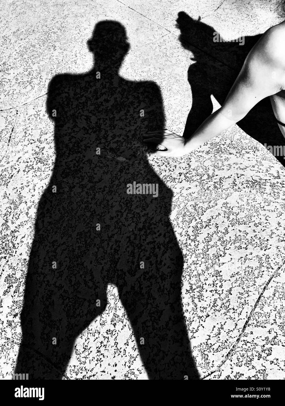 Shadows around the pool - Stock Image
