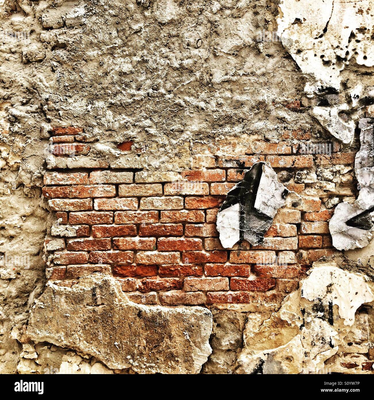 Pulling down the wall - Stock Image