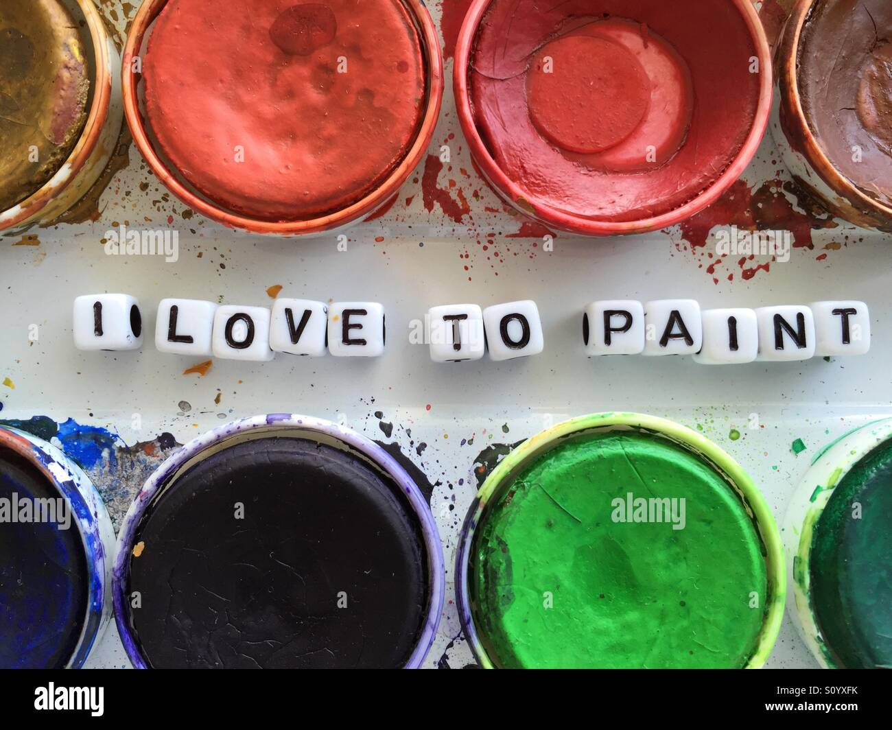 I love to paint - Stock Image