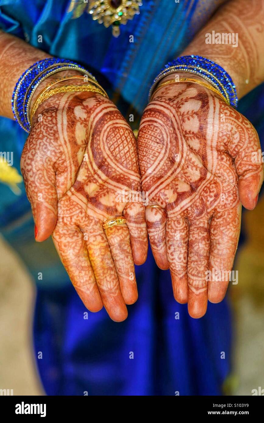 Indian traditions - Mehndi - Stock Image