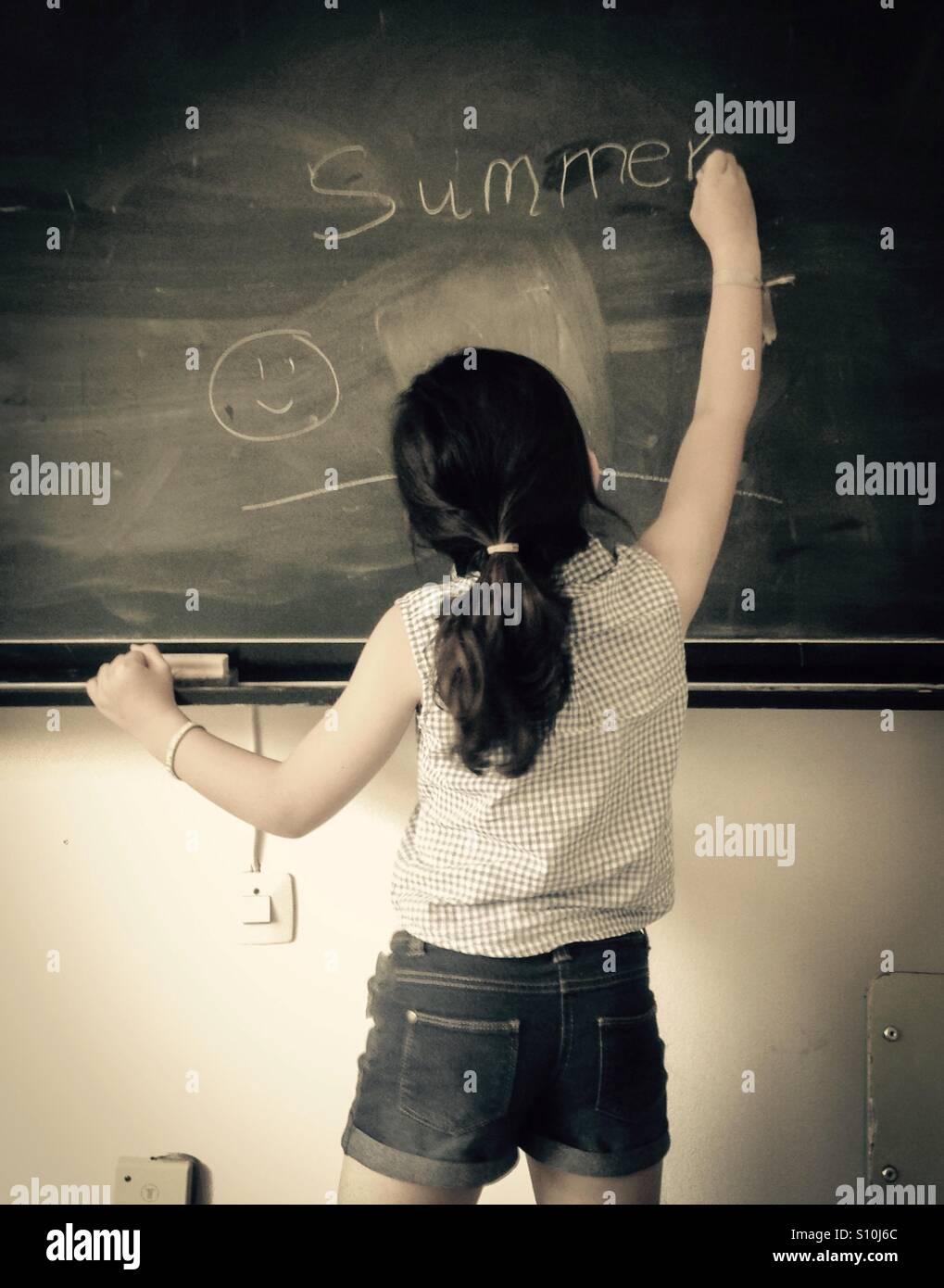 Summer school vacations - Stock Image