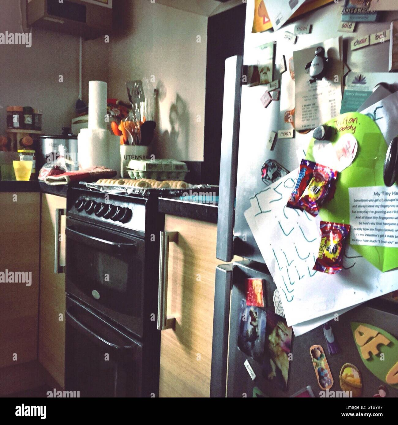 Busy Kitchen Inside View Of Kitchen In Busy Home Home Stock Photo 310664179 Alamy