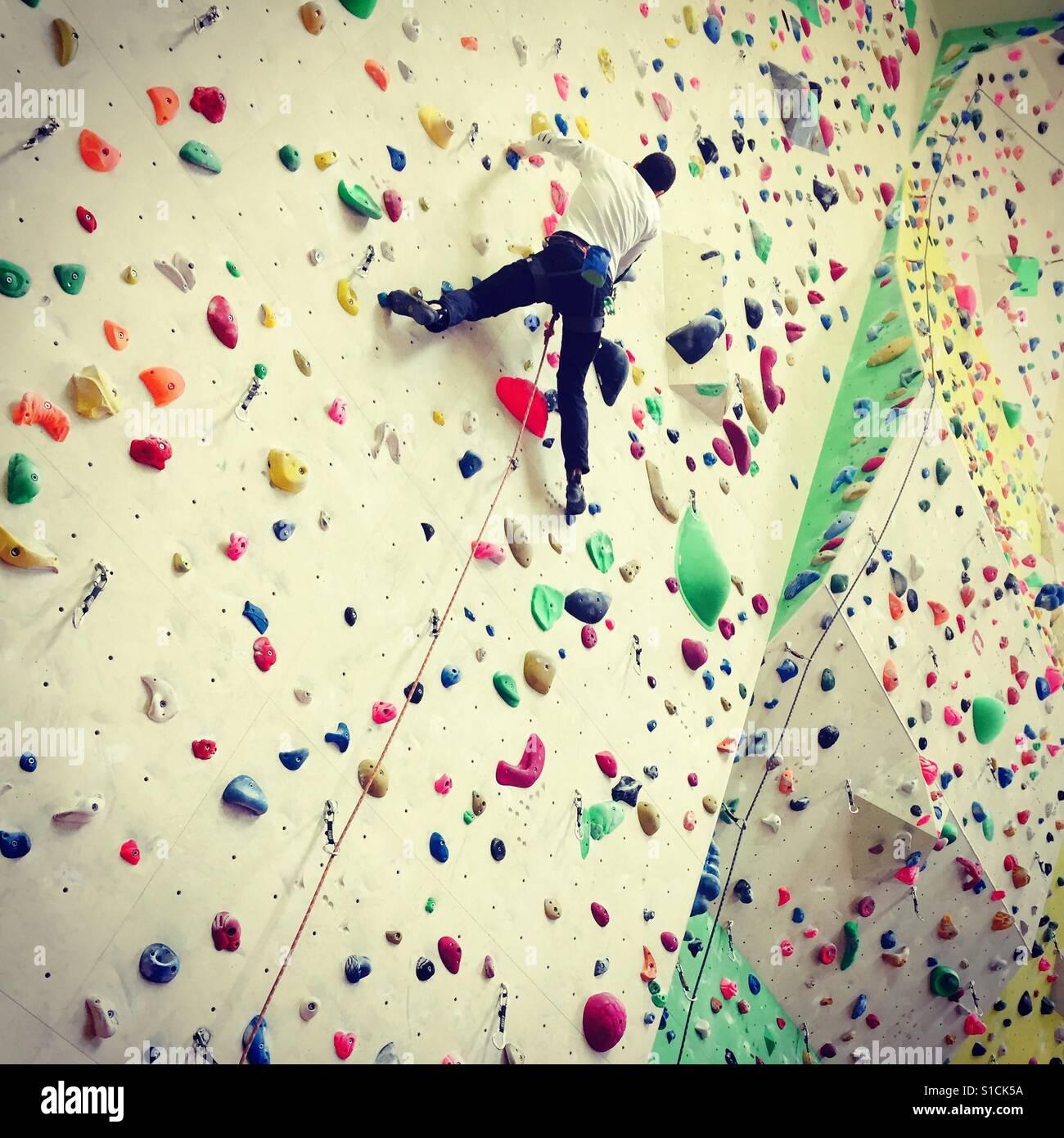 indoor climbing - Stock Image