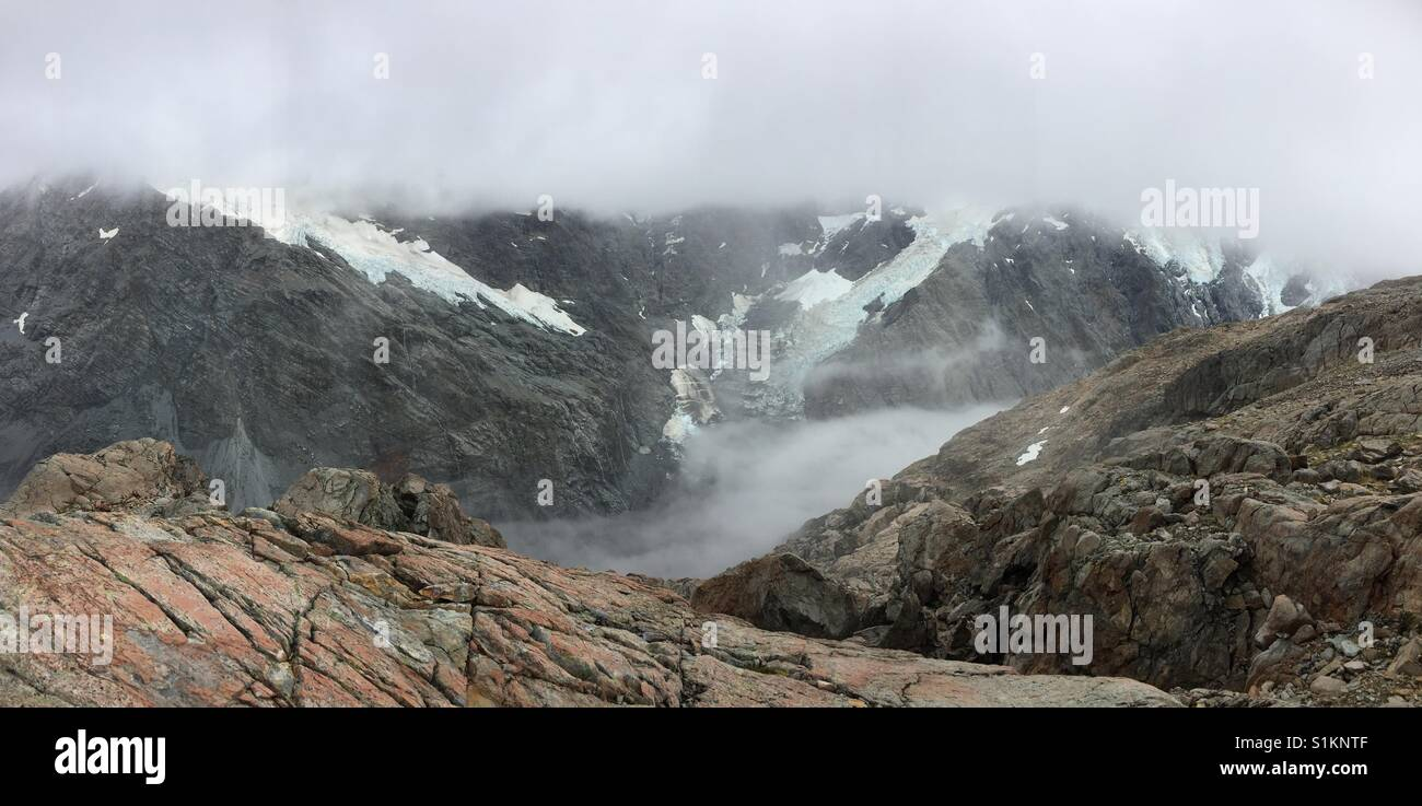 View from Mueller Hut - Stock Image