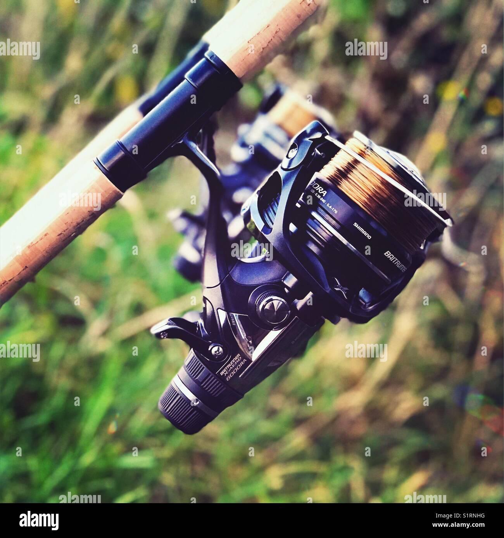 Fishing reels - Stock Image