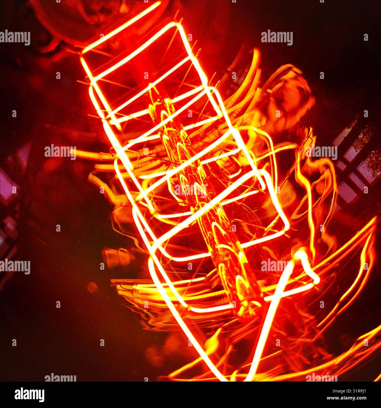 Abstract light filament - Stock Image