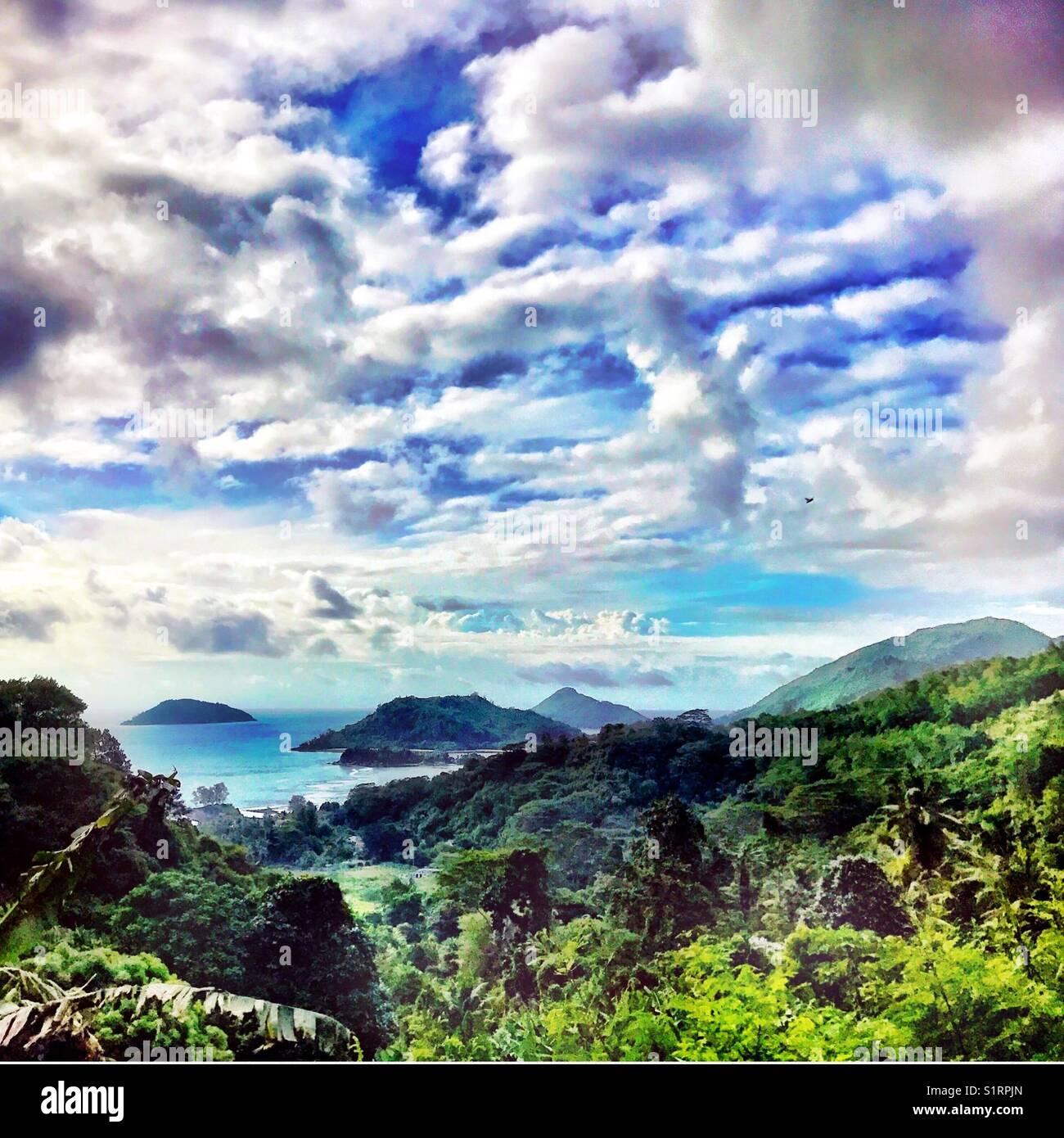 Mahe island Seychelles - Stock Image