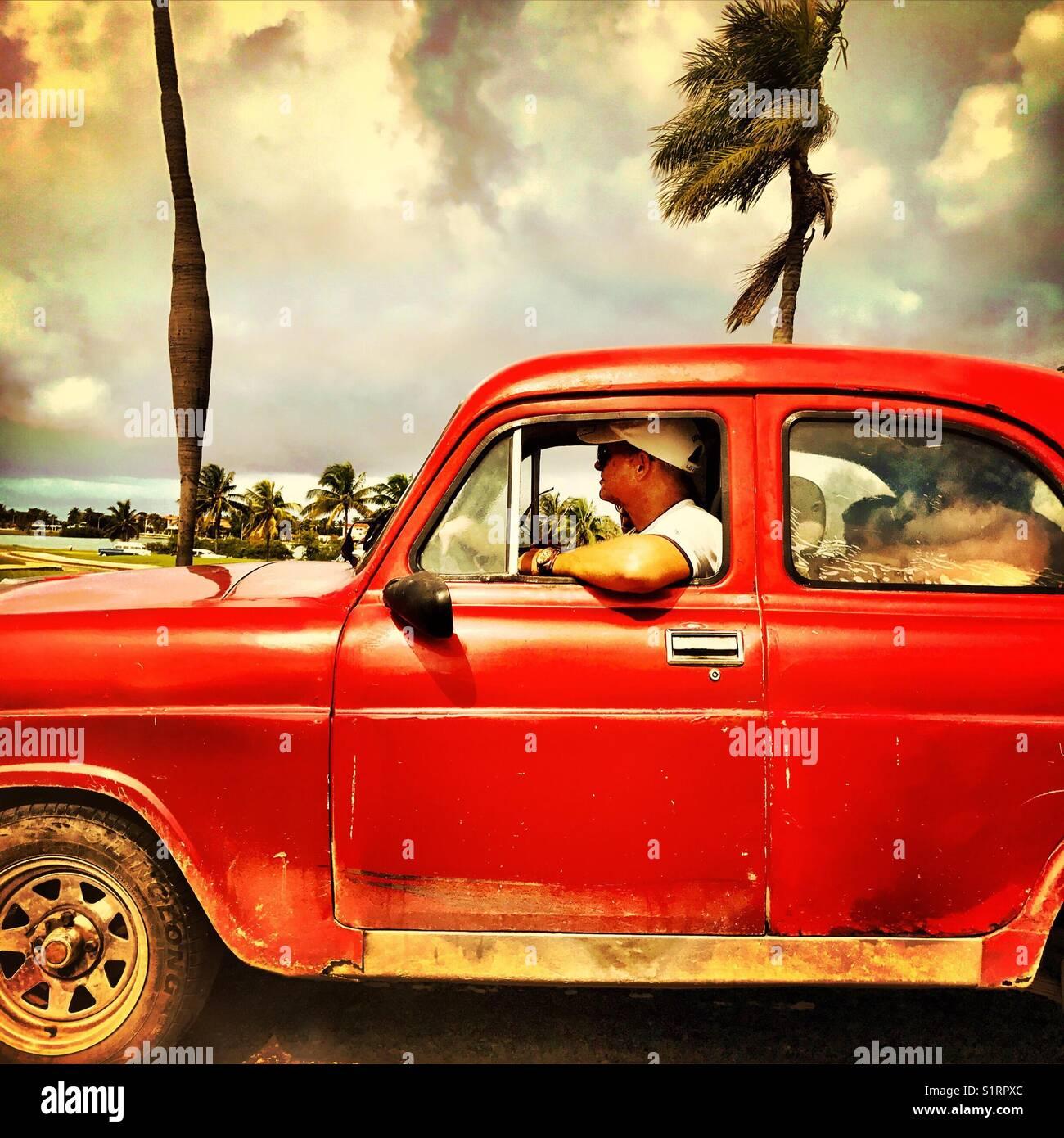 Havana Cuban retro car - Stock Image