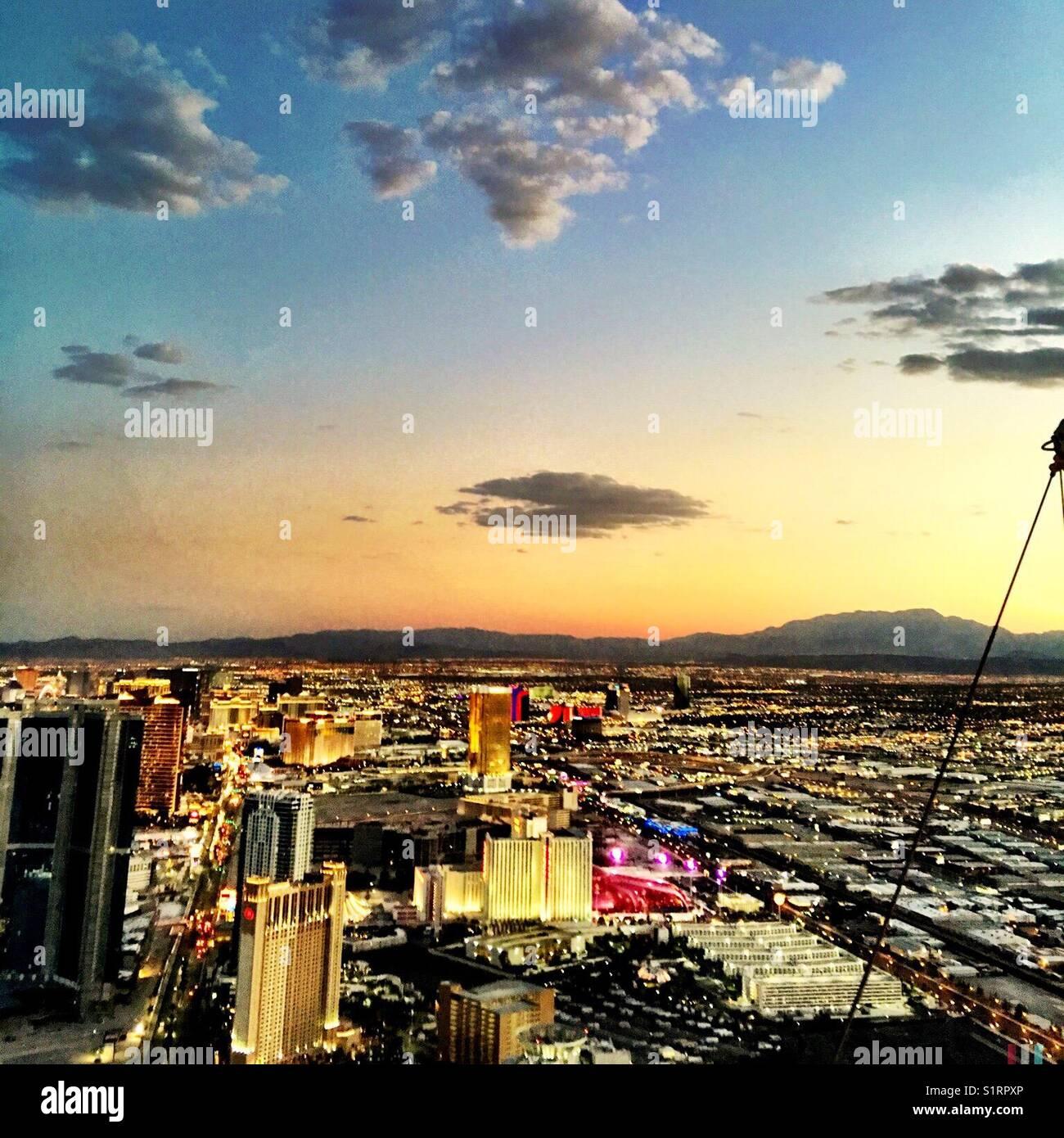 Las Vegas skyline - Stock Image