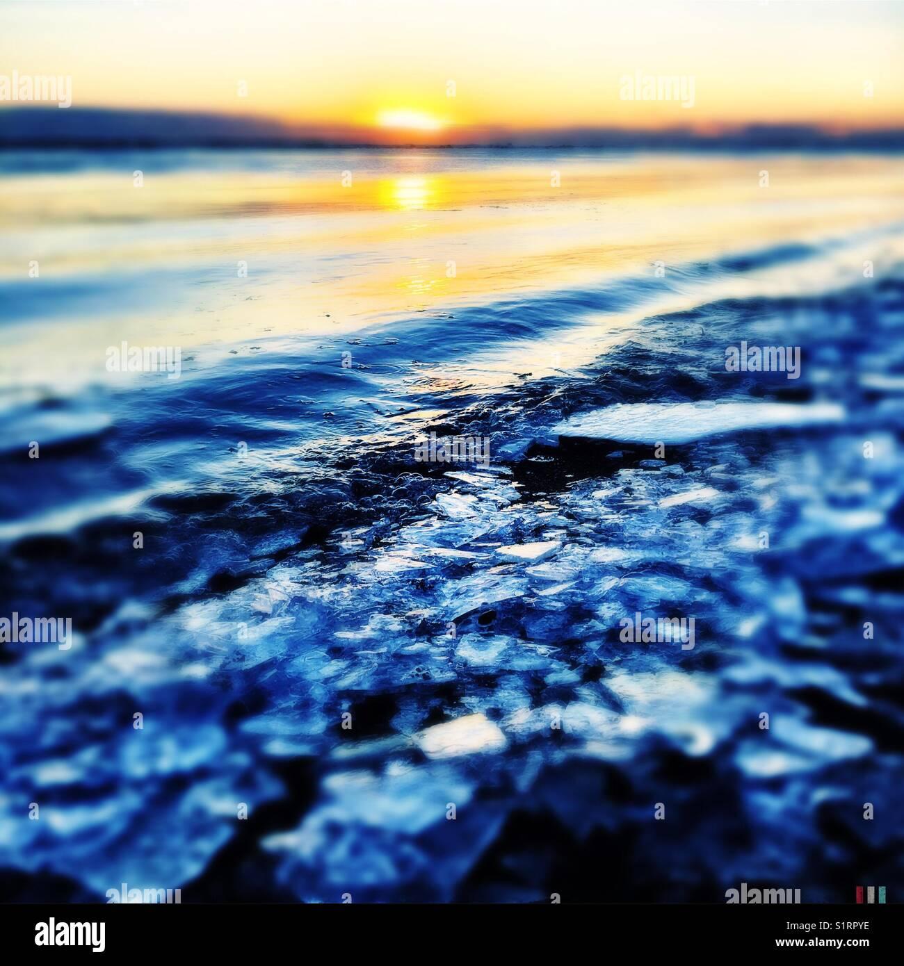 Iceland frozen shore - Stock Image
