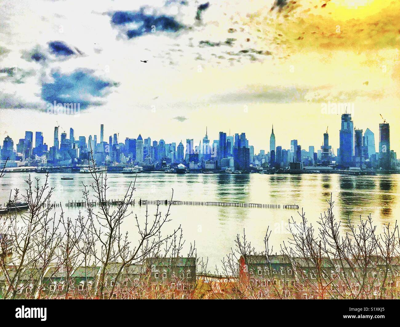 New York City skylines - Stock Image
