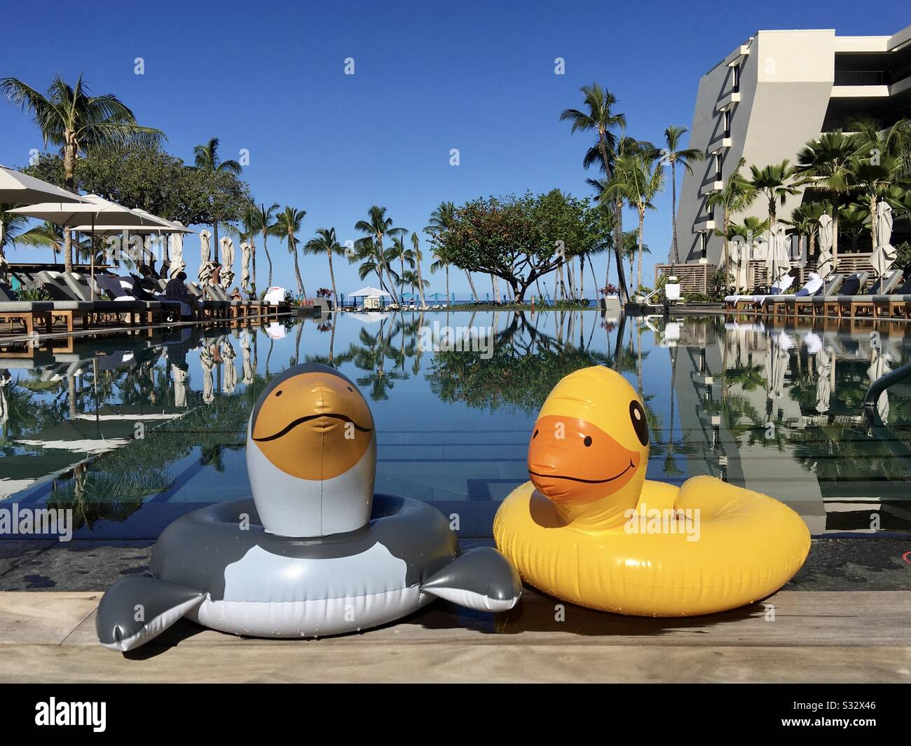 two-pool-floats-at-mauna-lani-resort-by-