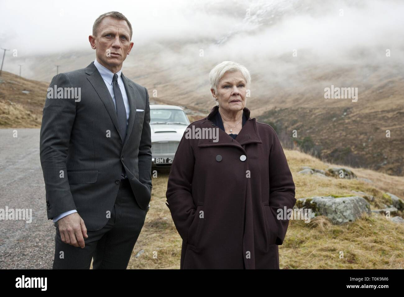 DANIEL CRAIG, JUDI DENCH,  SKYFALL, 2012 Stock Photo
