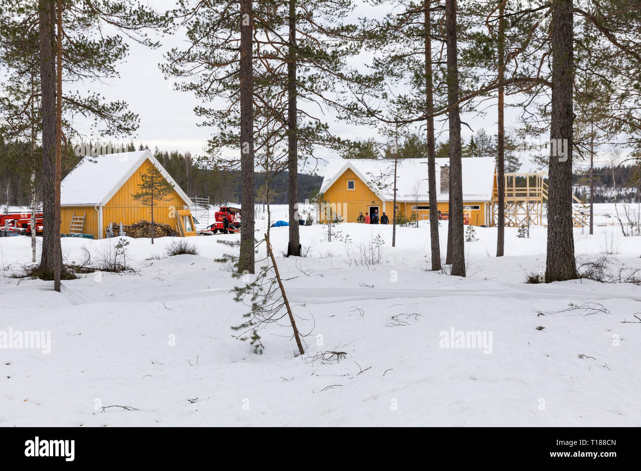 hakadal-norway-24th-march-2019-final-preparations-taking-place-ready-to-start-filming-the-25th-james-bond-film-in-the-forest-north-of-oslo-norway-credit-paul-smithalamy-live-news-T188CN.jpg