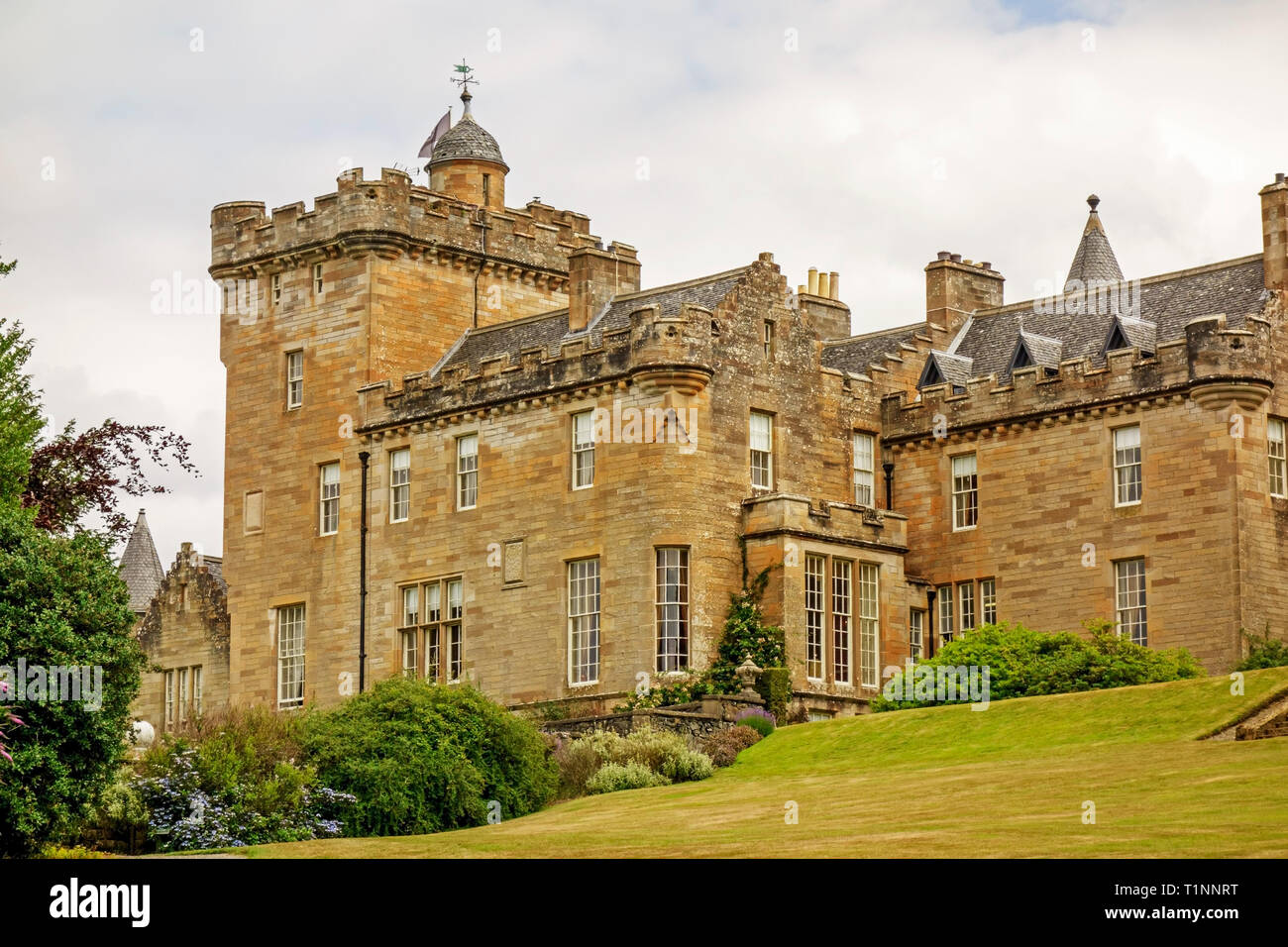 Luxury 5 star Glenapp Castle hotel near Ballantrae, South Ayrshire, Scotland,UK. Stock Photo