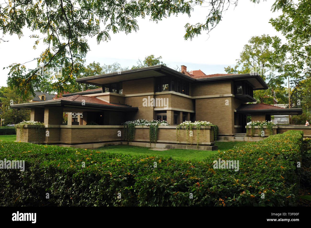 The Meyer May House in Grand Rapids, Michigan. The Prairie-style home, designed by architect Frank Lloyd Wright, was completed in 1909. Stock Photo