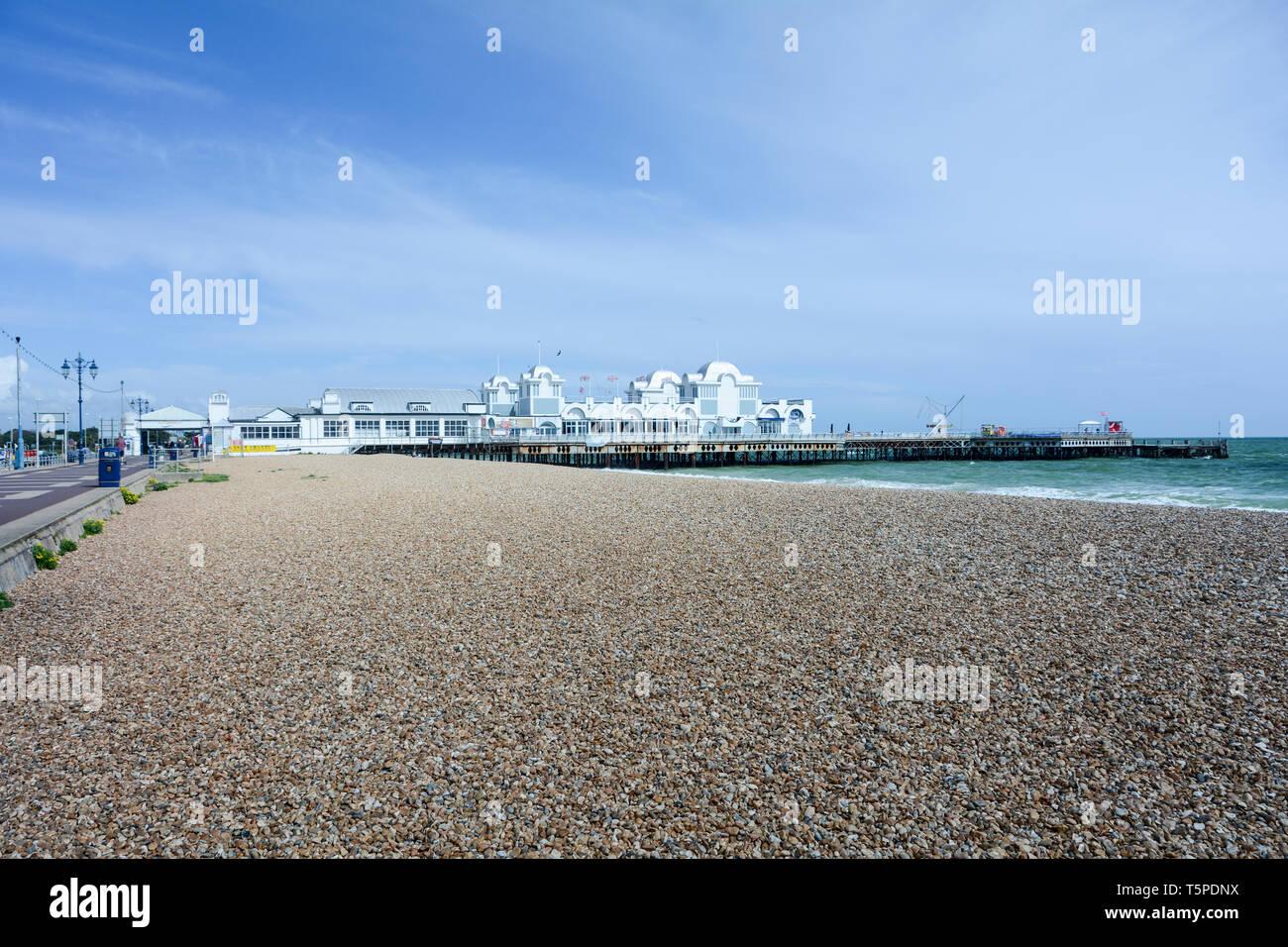 South Parade Pier, Southsea, Hampshire, England, UK Stock Photo