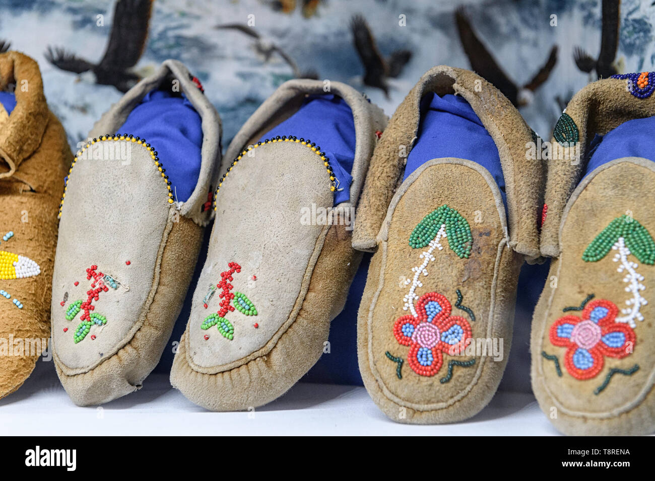 first-nations-moccasins-on-display-T8RENA.jpg