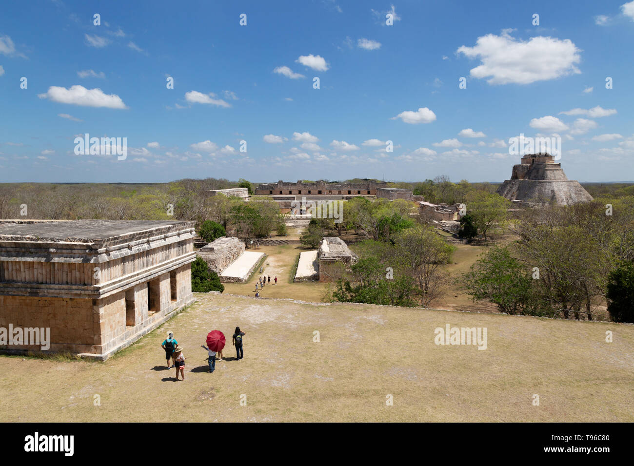 uxmal-mexico-view-of-the-mayan-ruins-looking-past-the-house-of-the-turtles-towards-the-nunnery-quadrangle-and-pyramid-of-the-magician-latin-america-T96C80.jpg