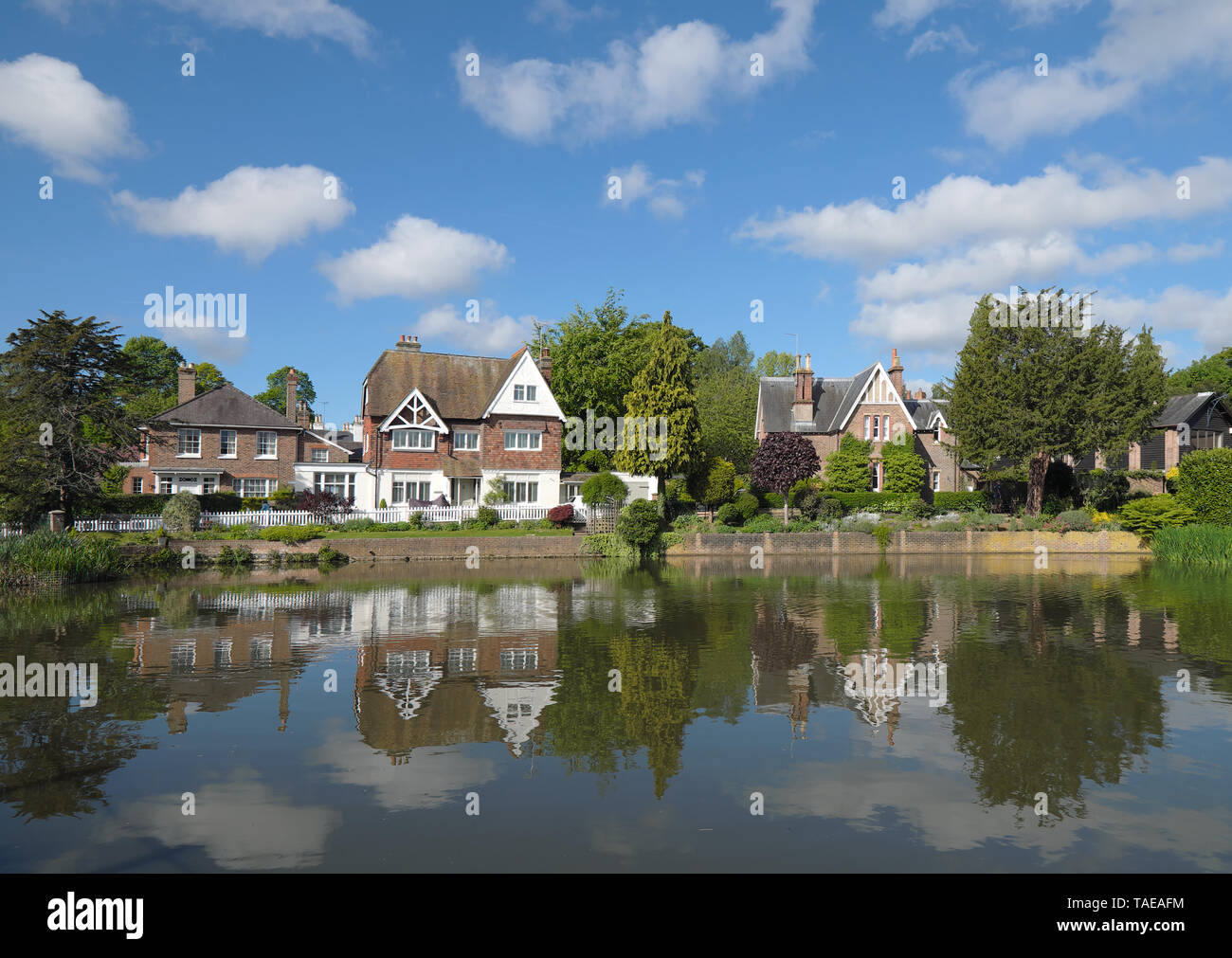 the pond in the village of lindfield in west sussex Stock Photo