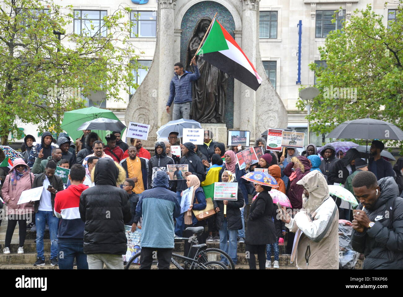 june-8-2019-supporters-of-the-sudanese-uprising-campaign-in-piccadilly-gardens-city-centre-manchester-uk-since-december-2018-people-in-sudan-and-elsewhere-have-called-for-political-reform-and-a-civilian-led-government-in-sudan-in-april-the-military-removed-president-omar-al-bashir-from-power-TRKP66.jpg