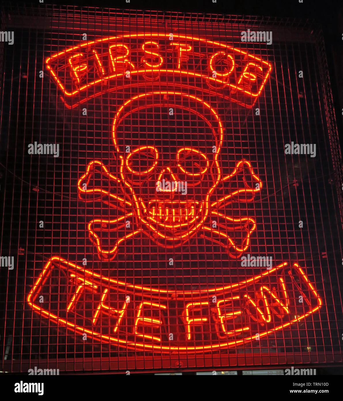 GoTonySmith,@HotpixUK,HotpixUK,North East,North East Scotland,Scottish,UK,City Centre,The Granite City,Northeast,neon,sign,orange,BrewDog,Brew Dog,Brewdog Aberdeen,brewing,brewery,Skull,Crossbones,bars,The Few,head,face,red neon,night,lit,lights,2010,Brewdog first bar,1st,AberdeenBar,AB25,Gallowgate,draft,small batch,small-batch,horror